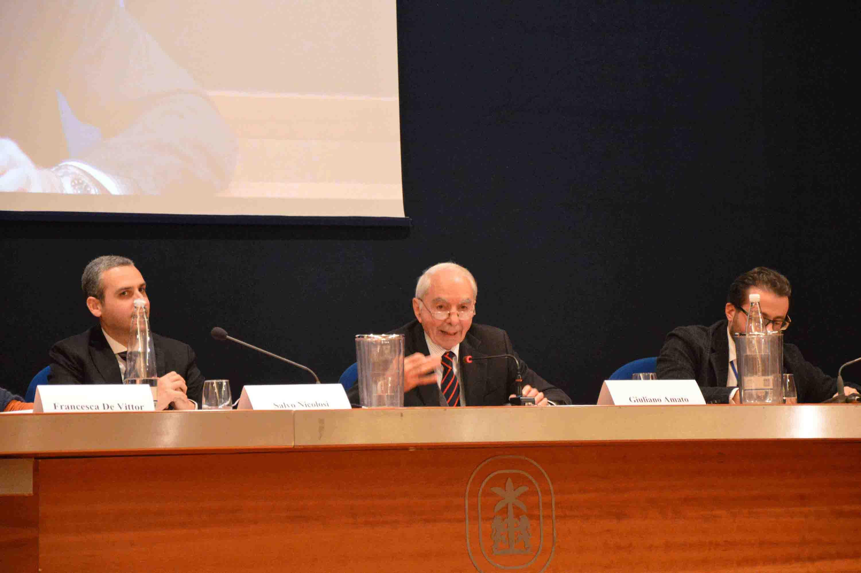 giuliano amato interviene al convegno inaugurale adim