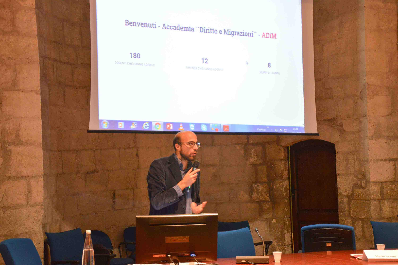 professor Bufalini conferenza inaugurale accademia immigrazione