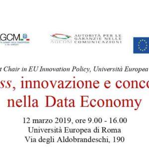 Fairness, innovazione e concorrenza nella Data Economy