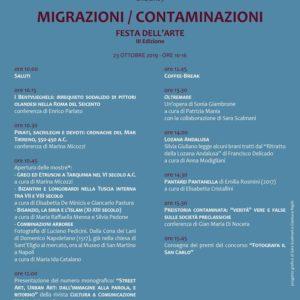 Migrazioni / Contaminazioni – Festa dell'arte III Edizione