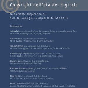 Seminario di studi – Copyright nell'età del digitale