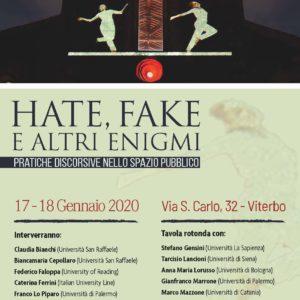 """Informazioni logistiche per partecipare al convegno  Hate, fake e altri enigmi. Pratiche discorsive nello spazio pubblico"""""""