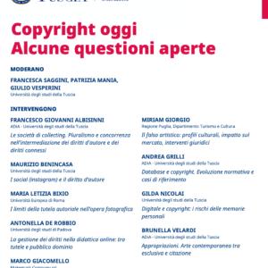 Copyright oggi Alcune questioni aperte